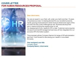 Cover Letter For Human Resources Proposal Ppt Powerpoint Presentation Styles