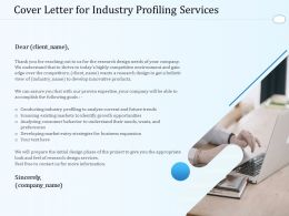 Cover Letter For Industry Profiling Services Ppt Powerpoint Presentation Show Visual
