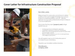 Cover Letter For Infrastructure Construction Proposal Ppt Powerpoint Format