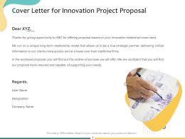 Cover Letter For Innovation Project Proposal Ppt Powerpoint Presentation Show Deck