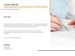 Cover Letter For Insurance Coverage Proposal C1114 Ppt Powerpoint Presentation