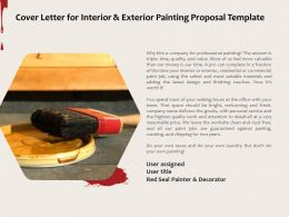 Cover Letter For Interior And Exterior Painting Proposal Template Ppt Powerpoint Presentation