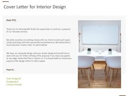 Cover Letter For Interior Design Ppt Powerpoint Presentation Gallery
