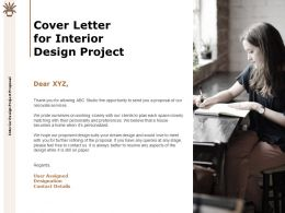 Cover Letter For Interior Design Project Designation Ppt Powerpoint Presentation Slides Visual