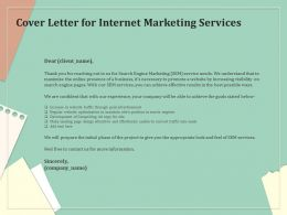 Cover Letter For Internet Marketing Services Ppt Powerpoint Presentation Gallery Styles