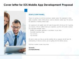 Cover Letter For IOS Mobile App Development Proposal Ppt Show Inspiration