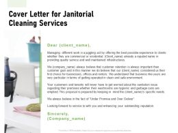 Cover Letter For Janitorial Cleaning Services Ppt Powerpoint Presentation Layouts Layouts