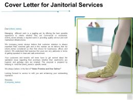 Cover Letter For Janitorial Services Business Ppt Powerpoint Presentation Slides Background