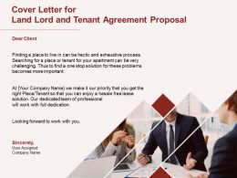 Cover Letter For Land Lord And Tenant Agreement Proposal Ppt Powerpoint Presentation Outline
