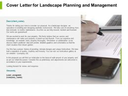 Cover Letter For Landscape Planning And Management Powerpoint Presentation File