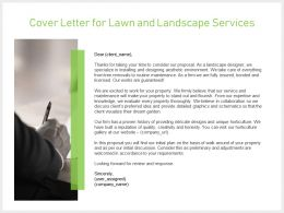 Cover Letter For Lawn And Landscape Services Ppt Slides