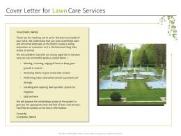 Cover Letter For Lawn Care Services Ppt Powerpoint Presentation Samples