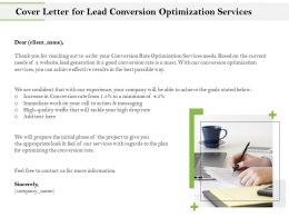 Cover Letter For Lead Conversion Optimization Services Ppt Icon