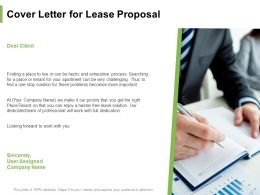 Cover Letter For Lease Proposal Ppt Powerpoint Presentation Pictures Design Templates