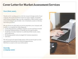 Cover Letter For Market Assessment Services Ppt Powerpoint Presentation Icon Summary