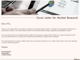 Cover Letter For Market Research Ppt Powerpoint Presentation Design Templates