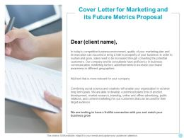 Cover Letter For Marketing And Its Future Metrics Proposal Ppt Examples