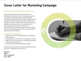 Cover Letter For Marketing Campaign Leadership Ppt Powerpoint Presentation Styles Display