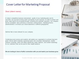 Cover Letter For Marketing Proposal Financial Ppt Powerpoint Slides