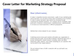 Cover Letter For Marketing Strategy Proposal Ppt Powerpoint Presentation Introduction