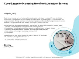 Cover Letter For Marketing Workflow Automation Services Customer Conversion Ppt Presentation Ideas