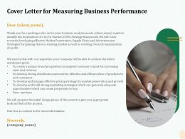 Cover Letter For Measuring Business Performance Goals Ppt File Display