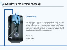 Cover Letter For Medical Proposal Ppt Powerpoint Presentation Summary