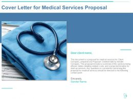 Cover Letter For Medical Services Proposal Ppt Powerpoint Presentation Model Ideas