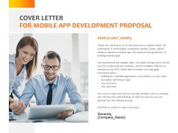 Cover Letter For Mobile App Development Proposal C1072 Ppt Powerpoint Presentation File
