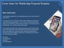 Cover Letter For Mobile App Proposal Template Ppt Example Topics