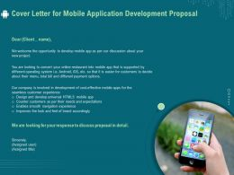 Cover Letter For Mobile Application Development Proposal Ppt File Elements