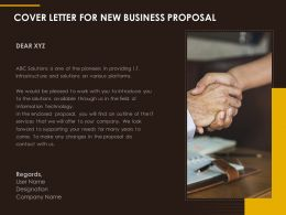Cover Letter For New Business Proposal Ppt Summary Sample