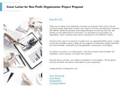 Cover Letter For Non Profit Organization Project Proposal Ppt Powerpoint Picture