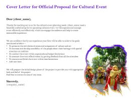 Cover Letter For Official Proposal For Cultural Event Ppt Powerpoint Presentation Gallery Gridlines