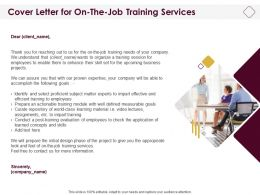 Cover Letter For On The Job Training Services Ppt Powerpoint Portrait