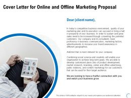 Cover Letter For Online And Offline Marketing Proposal Ppt Design