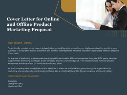 Cover Letter For Online And Offline Product Marketing Proposal Ppt Pictures