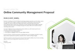 Cover Letter For Online Community Management Proposal Ppt Powerpoint Presentatio Slides