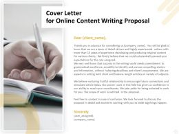 Cover Letter For Online Content Writing Proposal Ppt Powerpoint Portfolio