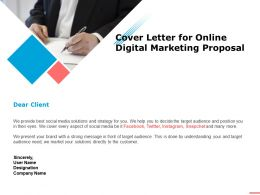 Cover Letter For Online Digital Marketing Proposal Ppt Powerpoint Presentation Summary Grid