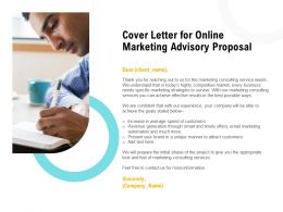 Cover Letter For Online Marketing Advisory Proposal Ppt Powerpoint Picture