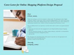 Cover Letter For Online Shopping Platform Design Proposal Ppt Powerpoint Graphics