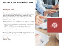 Cover Letter For Online Store Design Service Proposal Ppt Powerpoint Model
