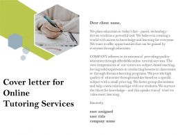 Cover Letter For Online Tutoring Services Ppt Powerpoint Presentation File Brochure