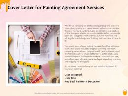 Cover Letter For Painting Agreement Services Ppt Powerpoint Presentation Gallery Layout Ideas
