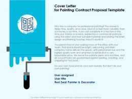 Cover Letter For Painting Contract Proposal Template Ppt Powerpoint Model Styles