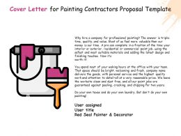 Cover Letter For Painting Contractors Proposal Template Ppt Powerpoint Presentation Summary