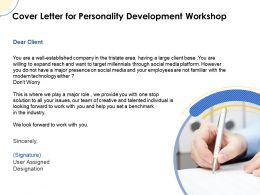 Cover Letter For Personality Development Workshop Ppt Powerpoint Tips Icons