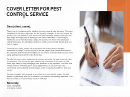 Cover Letter For Pest Control Service Ppt Powerpoint Presentation Summary Show