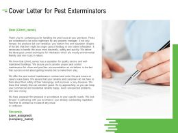 Cover Letter For Pest Exterminators Ppt Powerpoint Presentation Outline Guide